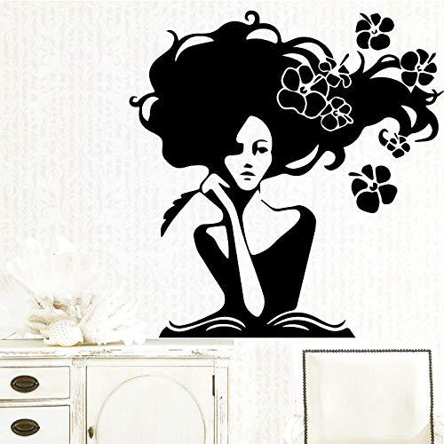 ZJfong Jolie Femme Vinyle Cuisine Stickers Muraux Papier Peint Pour Bébé Chambres Vinyle Art Decal 58x60cm