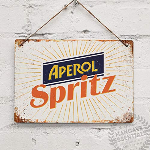 BNTN Aperol Spritz Vintage Cocktail Prosecco Tin Sign Metal Sign Metal Poster Metal Decor Metal Painting Wall Sticker Wall Sign Wall Decor