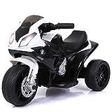 BAKAJI Moto Motocicletta Elettrica Bambini BMW s1000 rr Batteria 6V Ricaricabile Triciclo 3 Ruote Fari Funzionanti con Luci e Suoni Dimensione 66 x 37 x 44 cm (Nero)