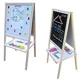 Standkindertafel 94x45cm Magnettafel Kindertafel Standtafel Schultafel Stehtafel (natur)