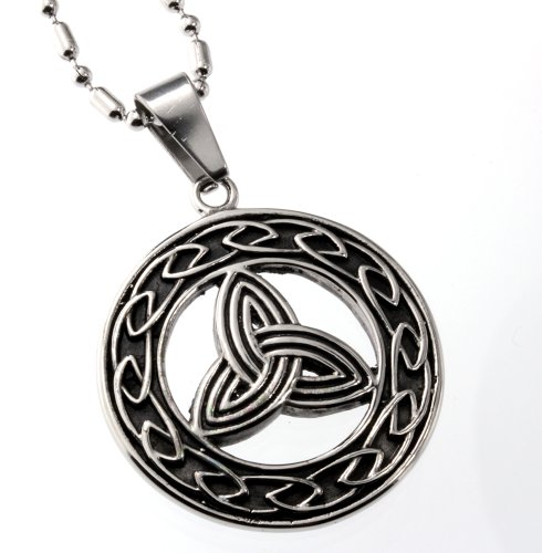 Round Trinity Celtic Knots Pendant, Finest Quality Stainless Steel Jewelry