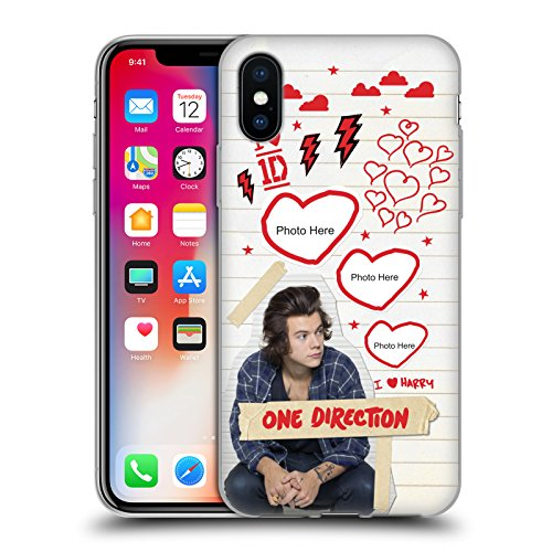 Cover Personalizzata Personale One Direction 1D Harry Crazy Over You Cover Morbida In Gel Per Apple iPhone X Harry
