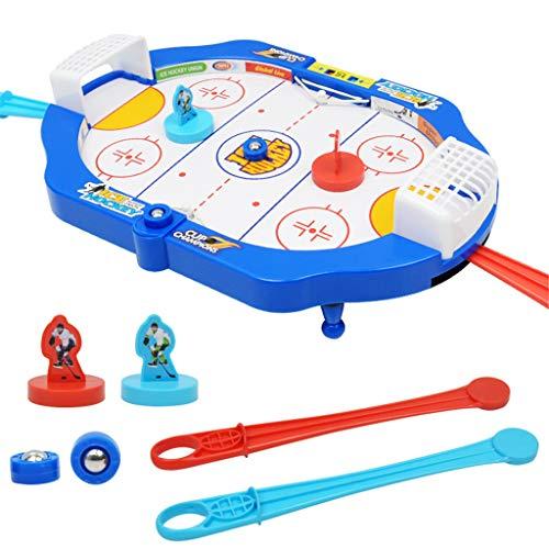 HKFV Desktop-Hockeyspiel Mini interaktives Spielzeug Hoop Net Ball Pumpenset -