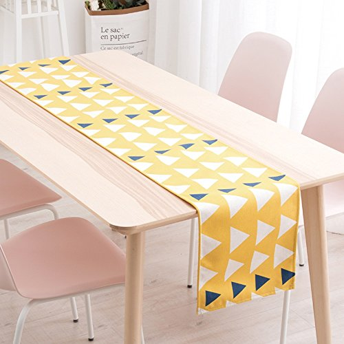 Kelly' Harvest House Tischläufer Wrinkle-Free für Hochzeit Tisch Bauernhaus Tischläufer Klavier Abdeckung Tuch Vintage geometrische Satin, mehrere Muster (Farbe : I, größe : 30x240CM) Vintage-bauernhaus