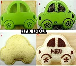 HPK BRANDED DIY Car Shaped Bread Toast Sandwich Cutter (EAT WITH FUN) Sandwich-Mold-Car-Shape-Cookie-Cutters-Bread-Stamps-Toaster-Maker-Tools-DIY-Kitchen-Tools