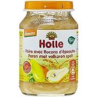 Holle Compote de Poires aux Flocons d'Épeautre Bio 190 g