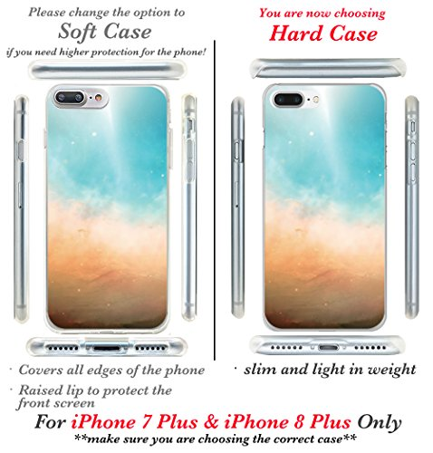 iPhone 7 Fall, casesbylorraine Cute Muster Case Kunststoff Hard Cover für Apple iPhone 7, A66, iPhone 7 Plus Soft Case I17 Style 1