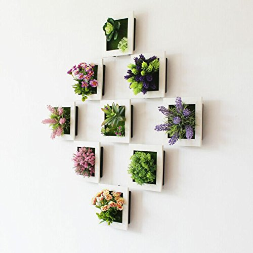 Lilone 3D Floral Wall Hanging Frame Artificial Flower Bunch for Wall Hanging...