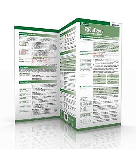 Excel 2016 - Formeln und Funktionen: Die schnelle Hilfe