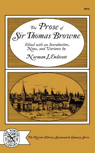 The Prose of Sir Thomas Browne