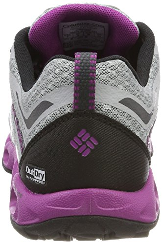 Columbia Ventrailia 3 Low Outdry, Chaussures de Randonnée Basses Femme Gris (Earl Grey, Intense Violet)