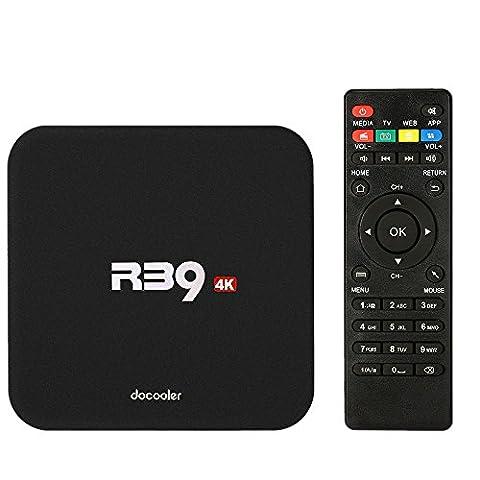 Docooler R39 Smart-Android 6.0 TV Box RK3229 Quad Core UHD 4K 1G / 8G Mini-PC WiFi