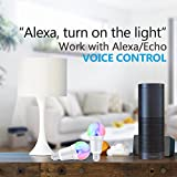 Smart Alexa Lampe, Wifi LED Glühbirne Hergestellt aus Aluminiumlegierung, E27, 7W, 650LM steuerbar via App auf IOS&Android, mehrfarbige und Helligkeits Kontrolle, Kompatibel mit Alexa &Google Home - 2