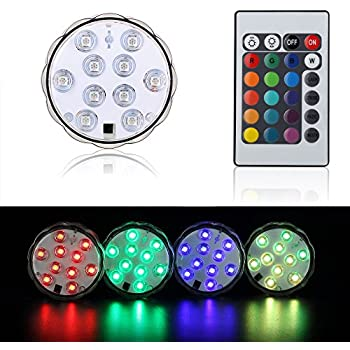 Shisha LED Licht KITOSUN 10-LED RGB Multi Farbe wasserdichte LED ...