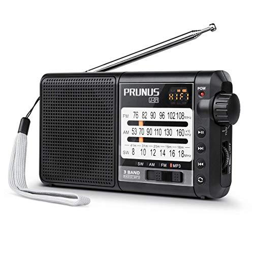 sgezeichneter Empfang UKW FM/AM(MW)/SWMicro SD MP3 WMA DSPTransistor Tragbares Radio mit 2200mah großer wiederaufladbarer und austauschbarer Batterie, kann 20 Stunden halten. ()
