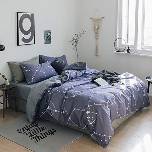Schlafzimmer-set Lyon (LiuHX Baumwolle DREI-Stück-Bettwäsche Einfache Twill Active Printing Schlafzimmer DREI-Stück,Lyon,230x230)