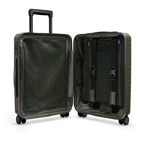 HORIZN STUDIOS H5 Handgepäck | Kabinen Trolley Koffer | Hartschale 55 cm, 35 L, mit 4 Rollen und TSA Schloss, Olivgrün (Dark Olive) - 4