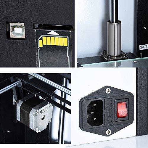 ALUNAR Auto Nivellierung 3D Drucker Metall Vollständig montiert Desktop FDM 3D Druckmaschine Automatik Feed Fortsetzen Drucken nach Unerwartetem Ausschalten, Druckgröße 6.3x6.3x6.3