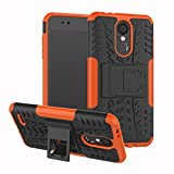XMTN LG K9,LG K8 (2018) 5.0' Custodia,2 in 1 Silicone TPU e Hard PC Case Cover Dual Armatura Bumper Case Telefono Protettiva Custodia per LG K9,LG K8 (2018) Smartphone (Arancia)