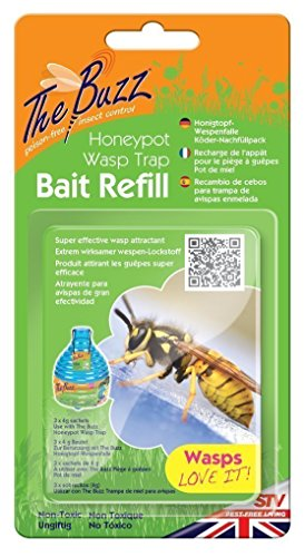 The Buzz Honigtopf-Wespenfalle Köder-Nachfüllung (Extrem wirksamer wespen-Lockstoff)