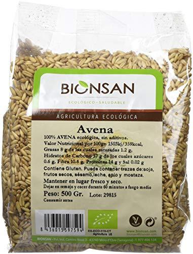 Bionsan Avena Sativa en Grano Ecológica - 6 Bolsas de 500 gr - Total: