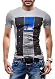 GLO STORY Hombre Camiseta 7452 Gris XL [3C3]