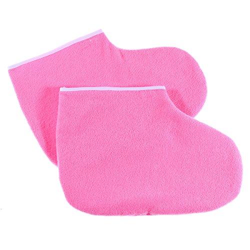Schlankes healifty Behandlung von Fuß-Spa-Bad Wachs Abdeckung Handschuhe Hand wärme-Therapie mit Isolierung-Handschuhe Baumwolle Weich Füße Pflege der Hand Set (Pink) (Wachs-hand-behandlung)