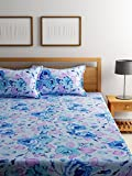 Bombay Dyeing 120 TC Polycotton Double Bedsheet with 2 Pillow Covers - Blue