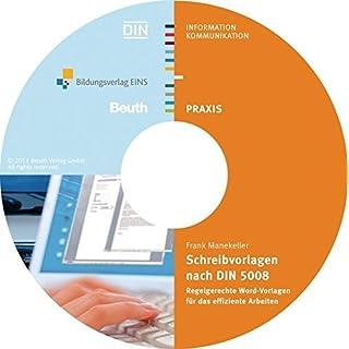 Schreibvorlagen nach DIN 5008: Regelgerechte Word-Vorlagen für das effiziente Arbeiten
