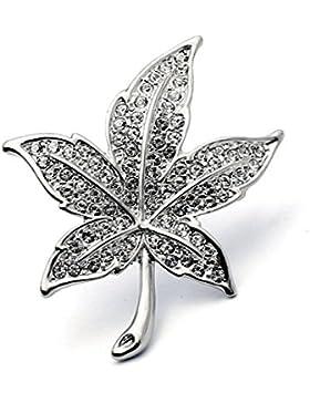 FZHLYUnique Broche Hojas Retro Con El Diamante Para Una Variedad De Ocasiones Formales