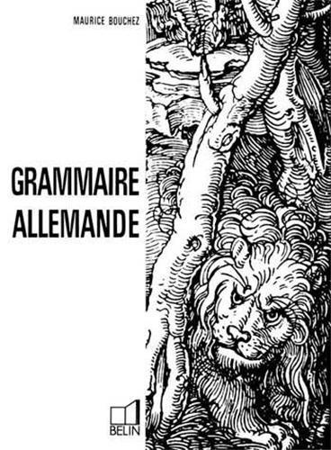 Grammaire allemande par M Bouchez