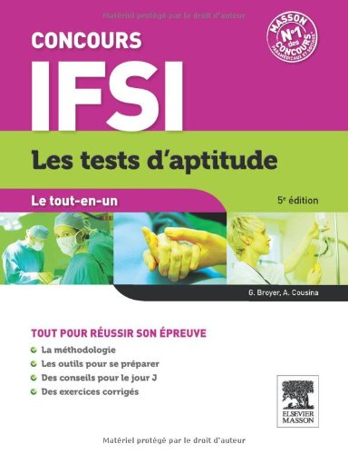 TESTS APTITUDE CONCOURS INFIRMIER 5ED.
