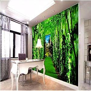 Wmbz Carta Da Parati Per Pareti 3 D Bella Foresta Verde Sfondo ...