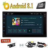 Wireless Camera posteriore + Android Stereo Doppio 2 DIN Unit¡§¡è di testa da 7 pollici 8.1 Quad Core Torrone sistema in precipitare navigazione GPS Bluetooth di sostegno Autoradio WIFI USB FM di devi