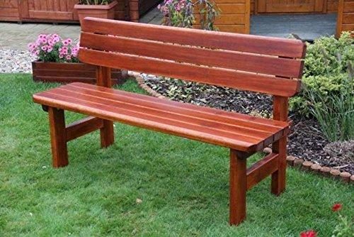 Massivholz Gartenbank 'Rovna' Kiefer , unbehandelt , B 150 cm , Holzstärke : 42 mm !