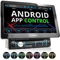 XOMAX XM-D1002 autoradio con 25,7 cm (10,1 pulgadas) LCD pantalla táctil + Bluetooth dispositivo manos libres y función de reproducción + código libre DVD / CD reproductor + Ranura de extensión por SD – tarjetas y USB conexión + Audio y Vídeo entretenimiento: MP3 WMA MPEG4 AVI + RGB Multi colores de iluminación ajustable: azul, rojo y mucho más + conexión por retrovisor y por subwoofer + Single / solo DIN (DIN 1) medida estándar para el montaje + incluido mando a distancia