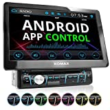 XOMAX XM-D1002 Autoradio mit XXL Touchscreen Video Bildschirm (25 cm / 10 Zoll), Android App Control, Bluetooth Freisprecheinrichtung, DVD CD Player USB SD RDS Beleuchtungsfarbe einstellbar, 1 DIN