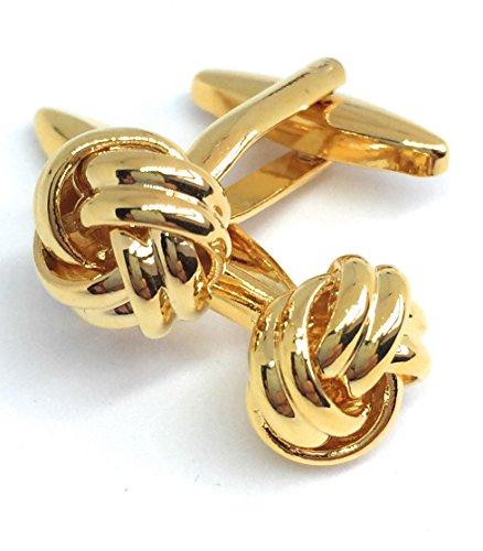 Gentleman: Edle goldene Manschettenknöpfe Knoten