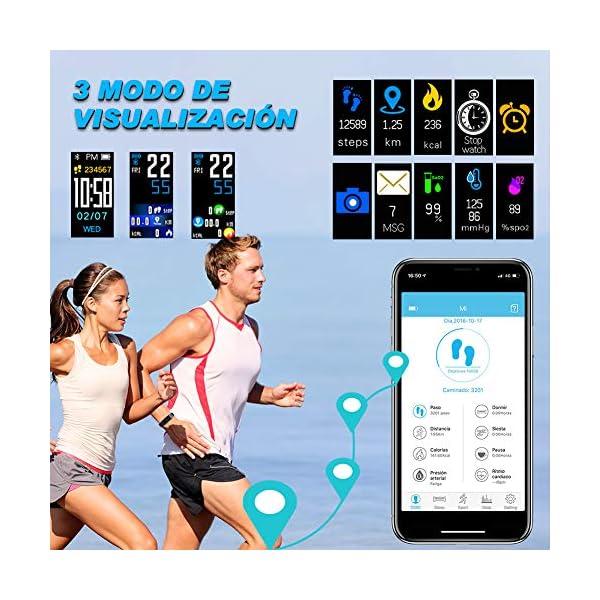 MINLUK Pulsera de Actividad Inteligente para Android iOS 5