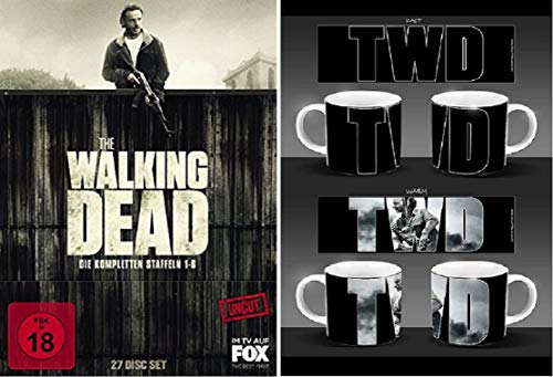 The Walking Dead Staffel 1-6 Blu-ray Box (1+2+3+4+5+6) Uncut + Tasse/Kaffebecher Uncut-box