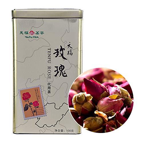 Rose Tea,China Rose Petal Tea,Decaffeinated Red Rose Tea in Caddy 100g
