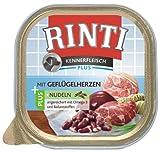Rinti Kennerfleisch Hundefutter Geflügelherzen & Nudeln 300 g, 9er Pack (9 x 300 g)