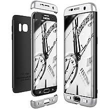 Funda Samsung Galaxy S7 Edge, CE-Link Carcasa Fundas para Samsung Galaxy S7 Edge, 3 en 1 Desmontable Ultra-Delgado Anti-Arañazos Case Protectora - Plata + Negro