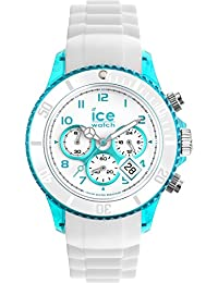 Ice-Watch - ICE Chrono party Blue lagoon - Weiße Herrenuhr mit Silikonarmband - 013721 (Medium)