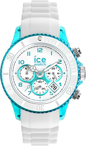 Ice-Watch - ICE Chrono Party Blue Lagoon - Men's (Unisex) Wristwatch with Silicon Strap - 013721 (Medium)