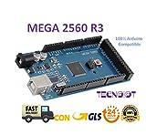 High Quality Mega 2560 R3 Board for Arduino 100% Compatible | Mega 2560 R3 Mega 2560 Karten Board mit Mikrocontroller Basierend auf dem ATmega2560 ATMEGA16U Development Board Kompatibel mit Arduino Mega Kit