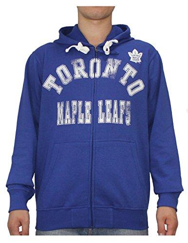 NHL Toronto Maple Leafs Herren Athletischer warmer Zip-Up Hoodie / Jacke XL Blau (Maple Leaf Jacke)