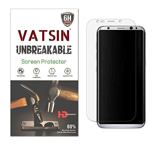 Vatsin Full EDGE to EDGE Screen Guard  Not Tempered Glass  For Samsung Galaxy S8 Plus