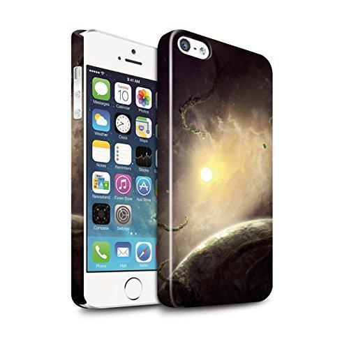 Offiziell Chris Cold Hülle / Glanz Snap-On Case für Apple iPhone 5/5S / Pack 6pcs Muster / Galaktische Welt Kollektion Entfernten Stern
