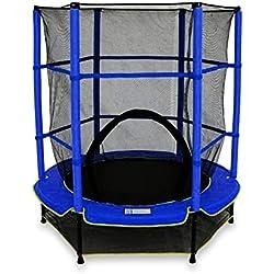 We R Sports Trampoline avec Filet de sécurité Enfant Bleu 137 cm